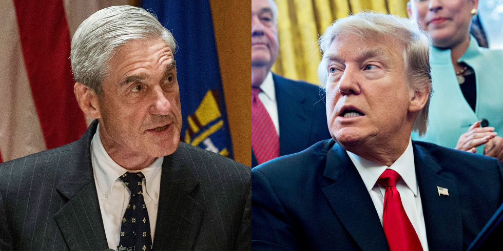 Image result for PHOTOS OF MUELLER AND TRUMP