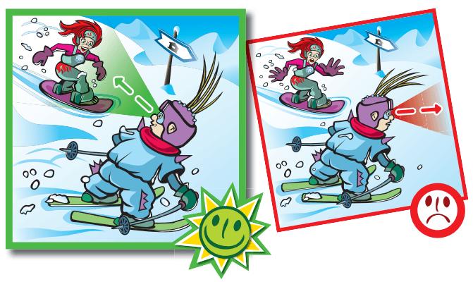 10 Reglas del Esquí en Viñetas