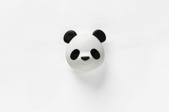 porta chaves panda branco e preto