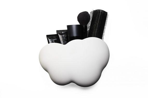 caixa em forma de nuvem para colocar acessórios pendurável com maquilhagem