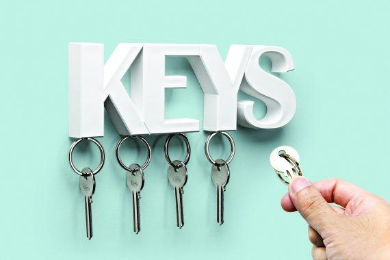chaveiro magnético de pendurar na parede keys em branco