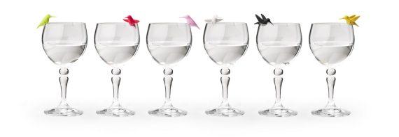 marcadores de copos coloridos colibri