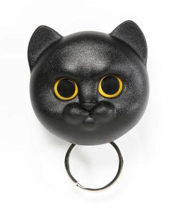 porta chaves em forma de gato preto