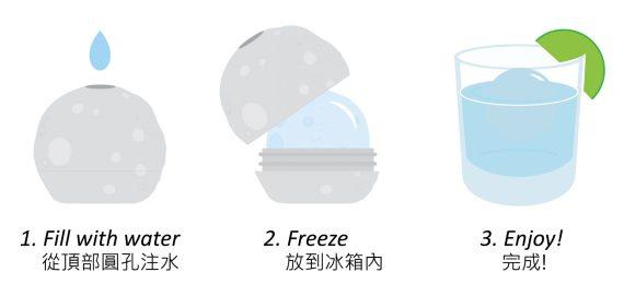moon ice ball instruction