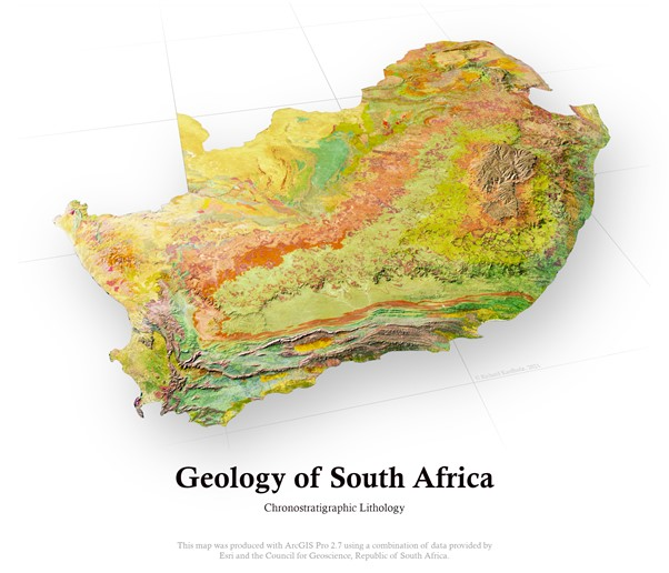 Geology of South Africa – making the map