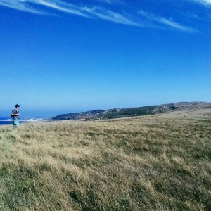 CSUCI student contemplates the long-term impacts of grazing management on Santa Rosa Island