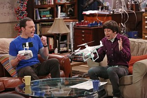 """""""The Graduation Transmission"""" -- Wolowitz (Simon Helberg, right) questions his engineering abilities when he and Sheldon (Jim Parsons, left) can't get a toy drone to fly, on THE BIG BANG THEORY, Thursday, April 23 (8:00-8:31 PM, ET/PT), on the CBS Television Network. Photo: Michael Yarish/CBS ©2015 CBS Broadcasting, Inc. All Rights Reserved"""