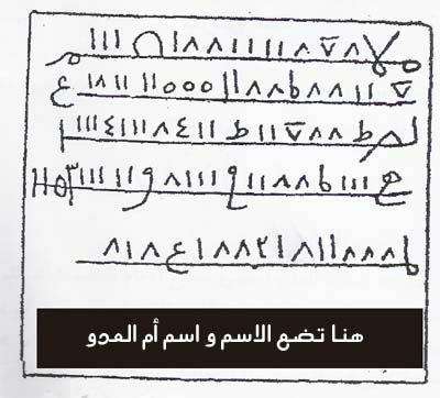 نماذج من الأسحار التي كان  خيري سيدي بابه ينشرها على صفحته