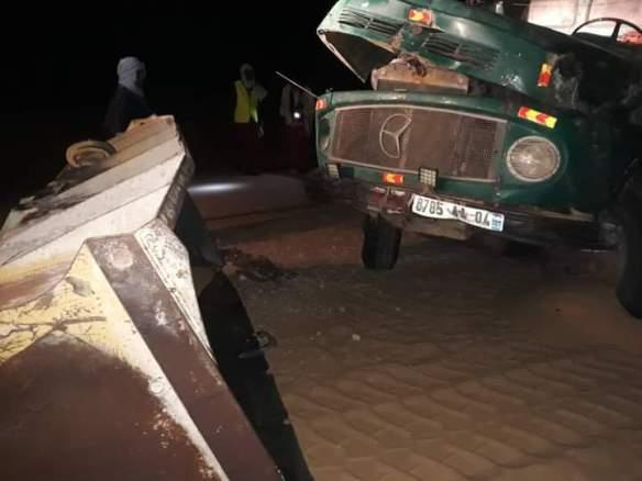 حادث سير على طريق نواكشوط- نواذيبو - المصدر (فيسبوك)