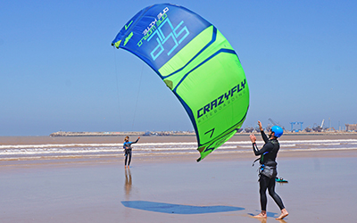 Décoller et atterrir kitesurf