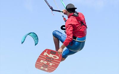 Saut grab en kite