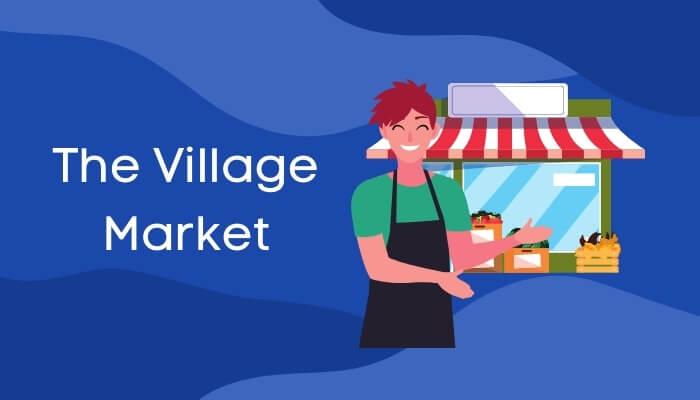 सब्जी-मंडी में आधा घंटा पर हिंदी में निबंध The Village Market Essay in Hindi