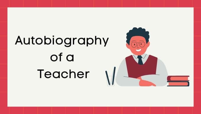 एक शिक्षक की आत्मकथा हिंदी निबंध - Autobiography of Teacher Essay in Hindi