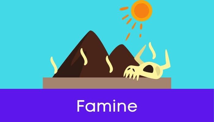अकाल हिंदी निबंध - Famine Essay in Hindi