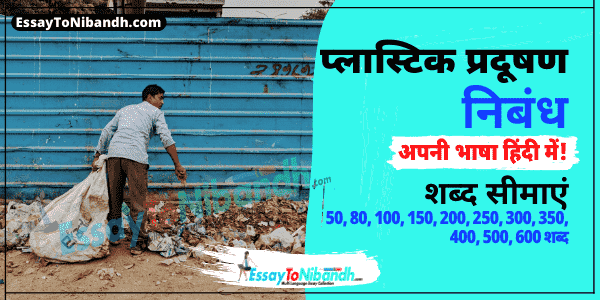 Plastic Pollution Essay In Hindi