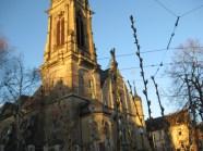 Da sprießt schon was grün vor der Christuskirche