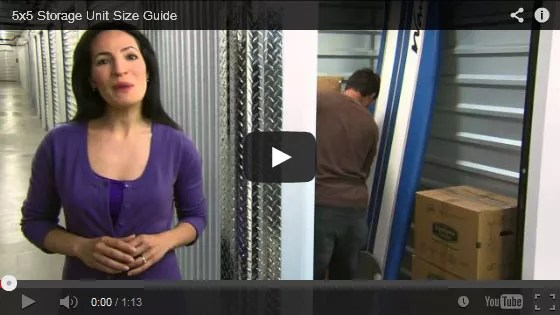 5×5 Storage Unit Video Tour  sc 1 st  Extra Space Storage & How Big is a 5x5 Storage Unit u0026 What Will It Hold? Take a Video Tour