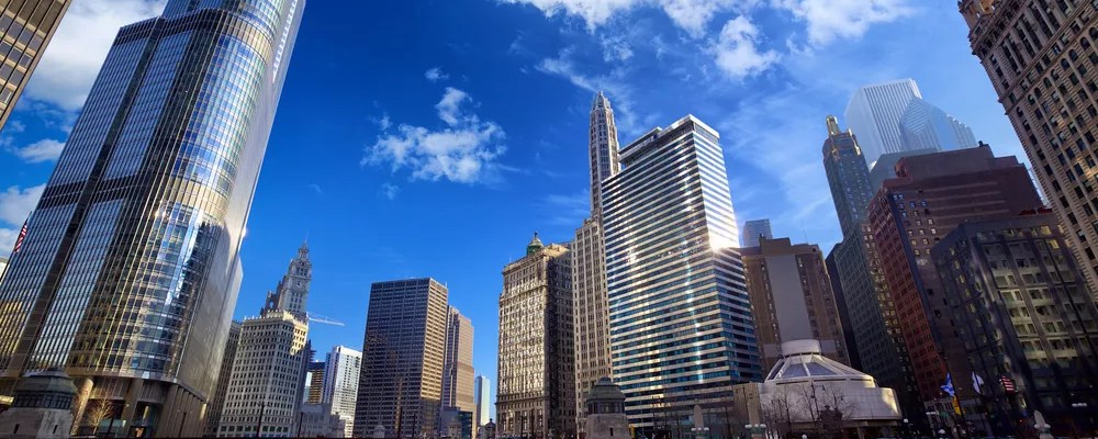 Downtown Chicago skyline from the Chicago River