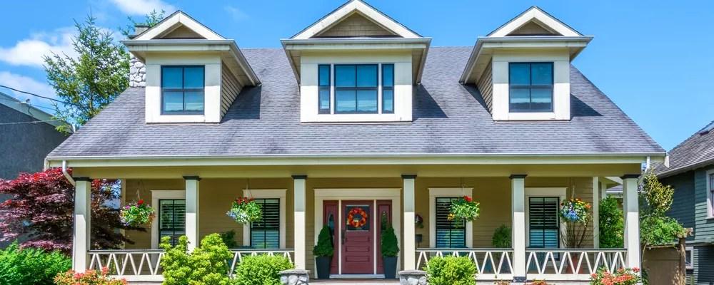 Bright photo of home exterior