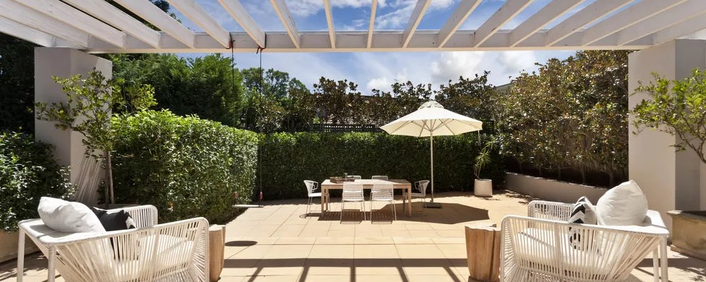 Sunny outdoor living space