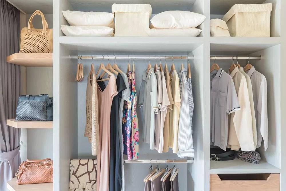 Closet Organization Ideas & Storage Tips (Including DIY Hacks!) via @extraspace