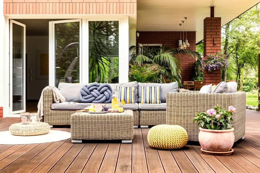 Contemporary Backyard Living Room Ideas Gallery