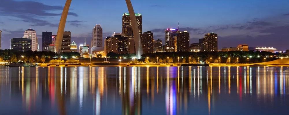 Skyline of St. Louis, MO