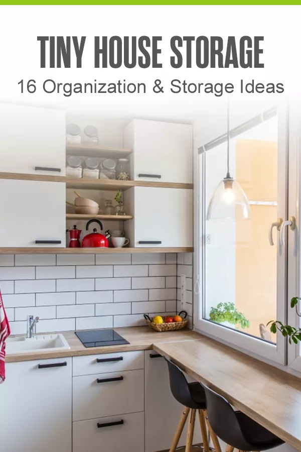 Need ideas for organizing and getting more storage in your tiny home? Check out these 16 tiny home organization ideas and storage tips! via @extraspace