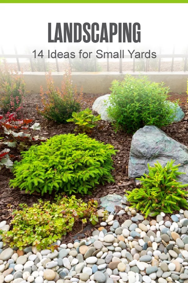 Looking for ways to landscape a small yard? These 14 landscaping ideas can help you transform a small yard or outdoor living space with plants, water features, and more! via @extraspace