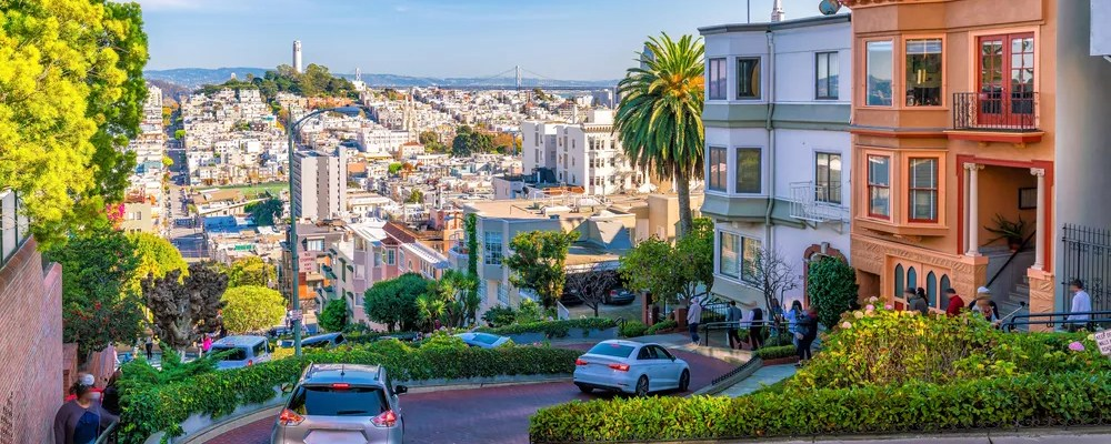 Featured Image: View of Downtown San Francisco from Lombard Street