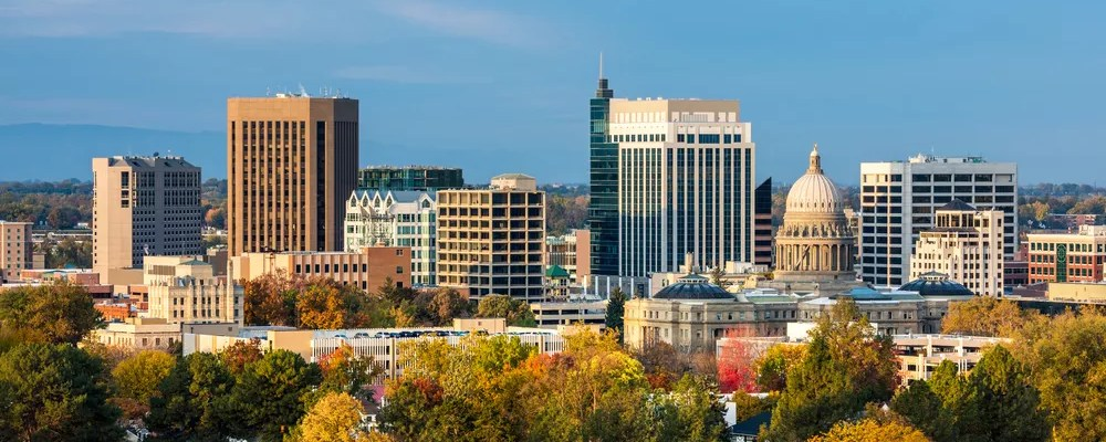 skyline photo of Downtown Boise, ID