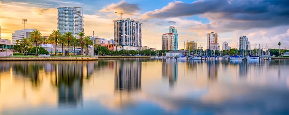 View of Downtown St. Petersburg from the Water