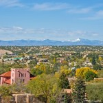 Wide view of Santa Fe, NM