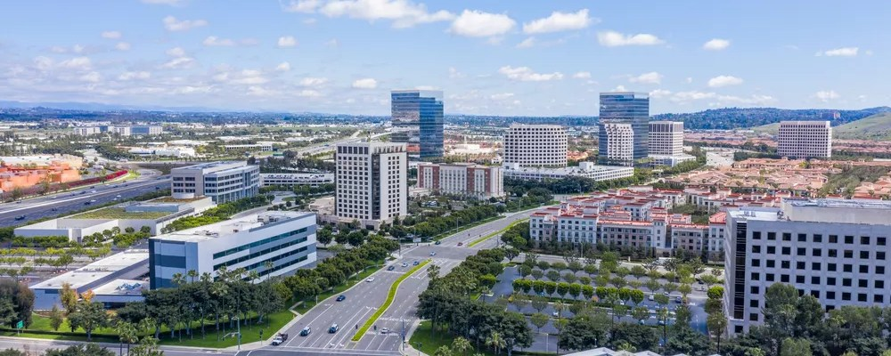 Aerial View of Downtown Irvine Skyline