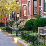 Sidewalk Photo of a Residential Street in Boston, MA