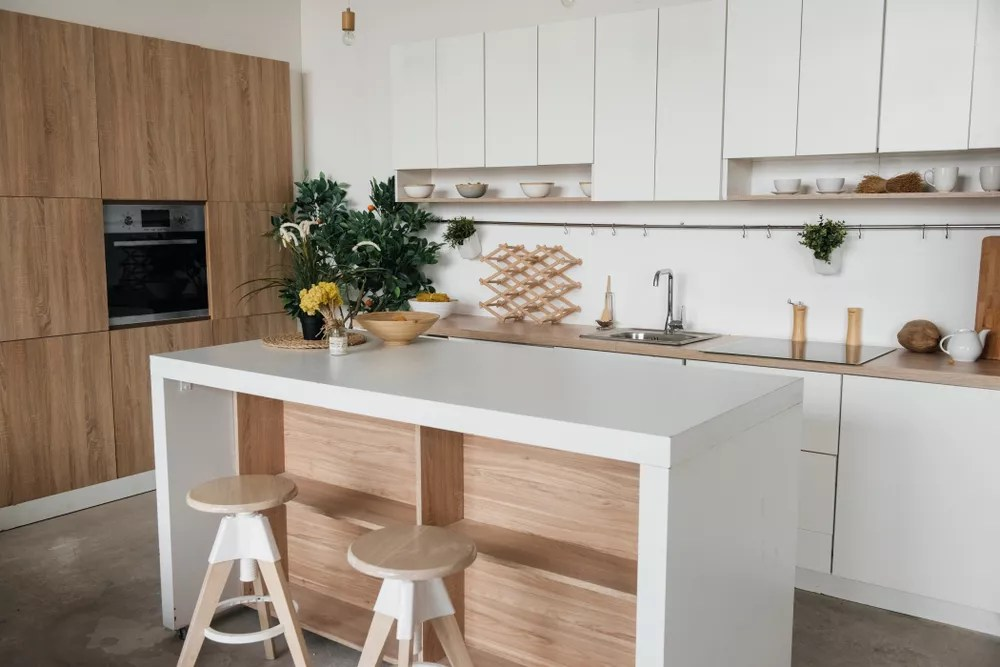 Modern Kitchen Set Up with Eco-Friendly Items
