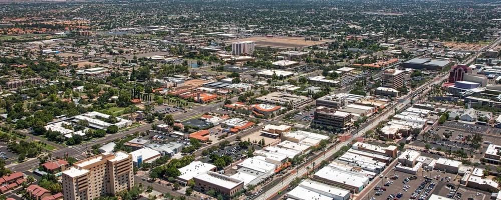 Aerial Photo of Downtown Mesa, AZ