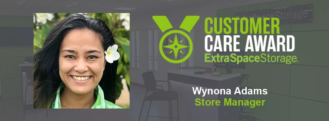Featured Blog: Customer Care Award: Extra Space Storage: Wynona Adams: Store Manager