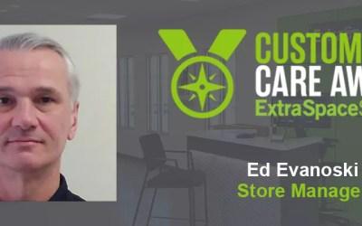 Extra Space Storage Recognizes Ed Evanoski with Customer Care Award