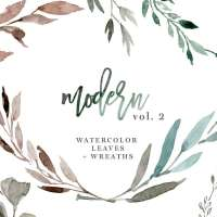 Watercolour Leaves Wreaths Clipart, Greenery Wedding Clipart, Eucalyptus Branch PNG Files