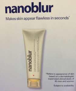 Nanoblur brand advert