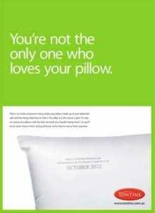 tontine pillow adverts
