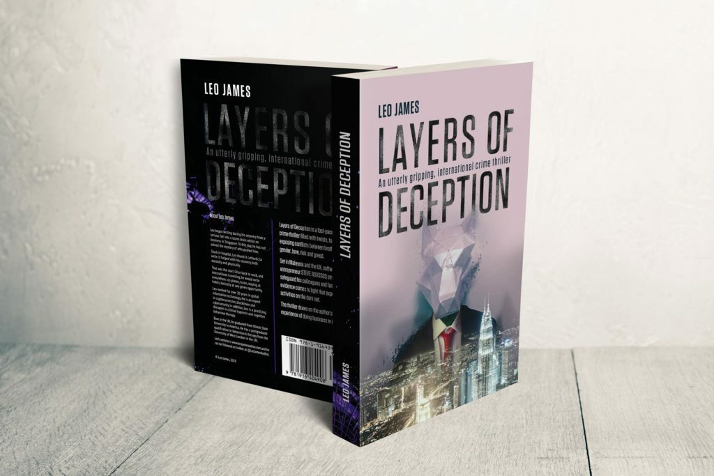 Layers of Deception Book Cover front and back