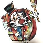 【手描きロゴキャラクター制作★だるま×ピエロ】@大阪府八尾市『建塗工業』様