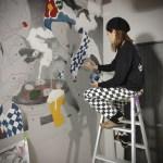 【浮世絵風壁画★2面目スタート!】@伊豆大島炭火ホルモン焼き『六輪』様
