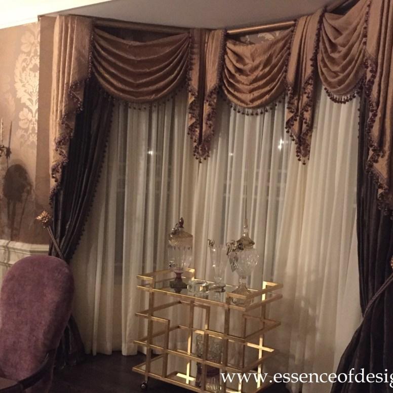 Potomac-MD-interior-designer-Shiva-Rostami-dining-room-elegant-transitional-custom-drapes-Virginia