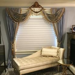 Potomac-Maryland-Interior-Designer-Shiva-Rostami-master-bedroom-Great-Falls-Va-custom-sitting-drapes-blue-gold