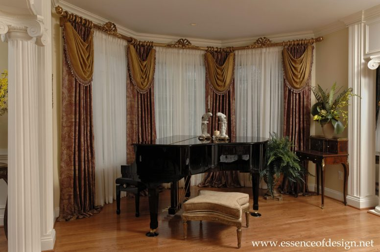 Potomac-Maryland-interior-designer-Shiva-Rostami-Piano-living-room-custom-draperies-McLean-VA