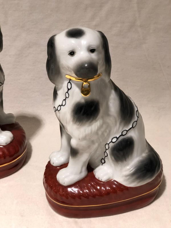 Porcelain Stafford Shire Dog Figurines