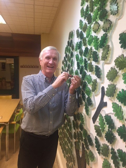 Former Director of Age UK Sunderland, Alan Patchett returned to the Bradbury Centre to see a commemorative leaf unveiled in his name.